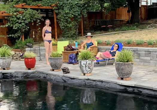 Poolside at Wood Hamlet Ashland AirBnb