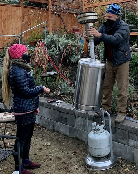 Wood Hamlet Outdoor Heater